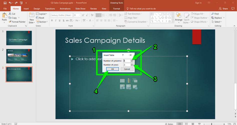 Excel Table in PowerPoint | Computer Applications for Managers