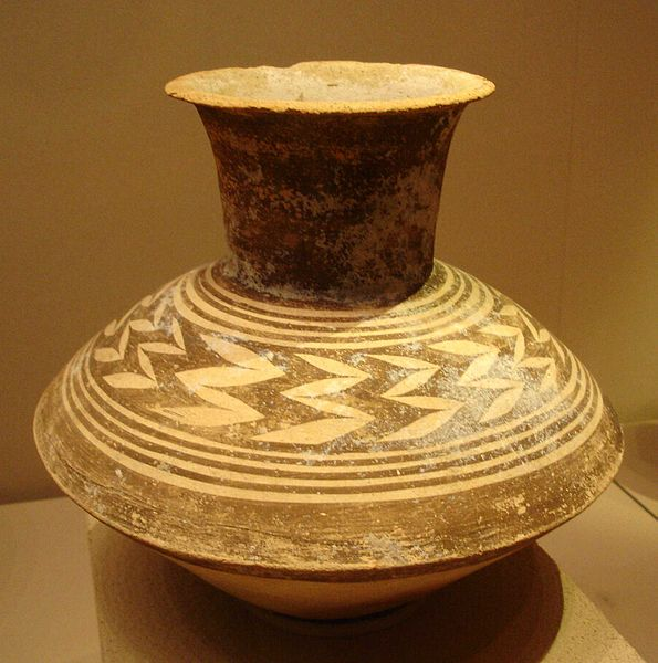 Photo depicts Ubaid-style vase.