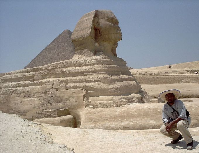 Full color photograph depicts the Sphinx of Giza, described above.