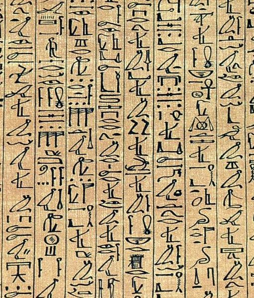 A close-up of the Papyrus of Ani.