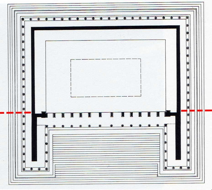 This is the ground plan of the Altar of Zeus.
