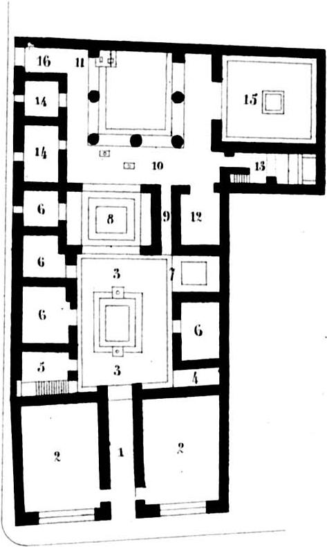 This is the ground plan of the House of the Tragic Poet.