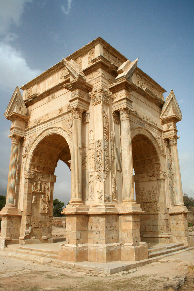 This is a current-day photo of the Arch of Septimius Severus.