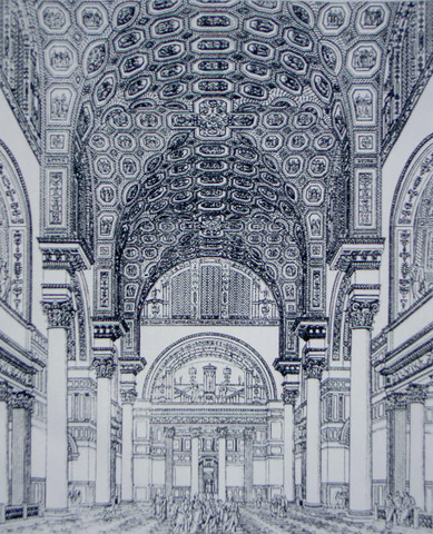 This is the drawing of the Baths of Caracalla described in the caption.
