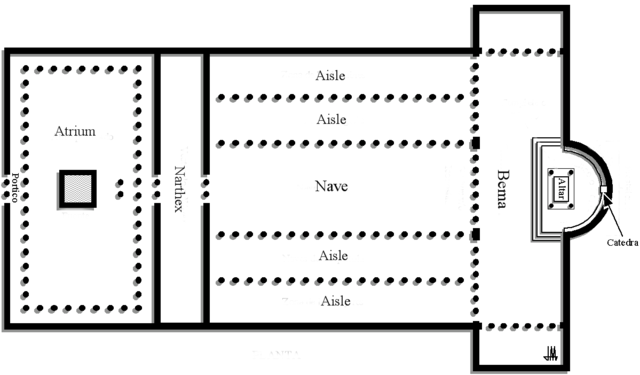 This is the ground plan of Old St. Peter's Basilica.