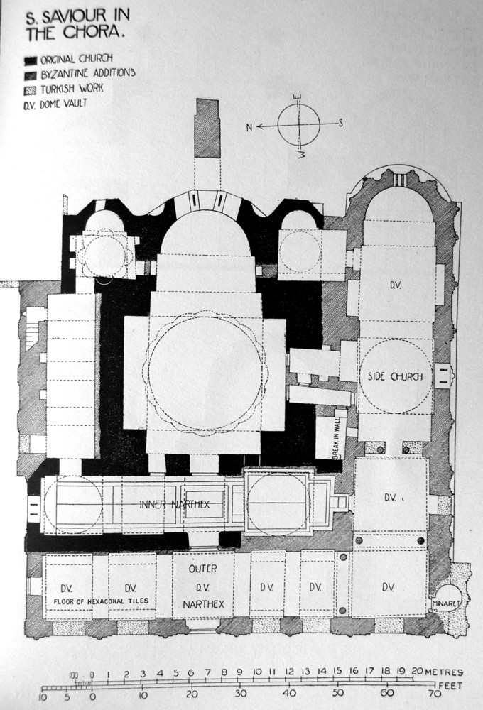 This is the ground plan of the Chora Church.