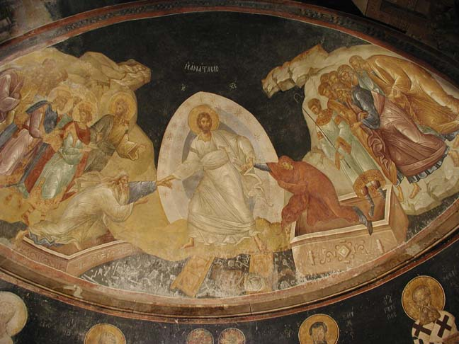 This photo shows the fresco Anastasis.
