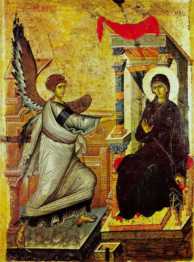 This photo shows the Ohrid Annunciation icon.