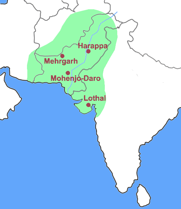 This is a map that shows the Indus Valley.