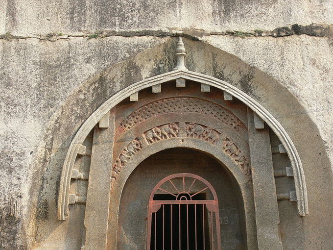 This is a photo of the entrance to the Barabar Caves.