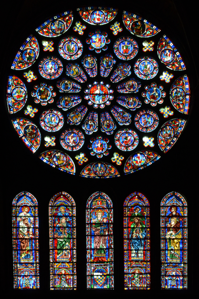 Image Of South Transept Rose Window Which Is Dedicated To Christ Who Shown