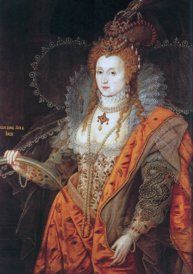 In This Painting An Ageless Elizabeth Appears Dressed As If For A Masque