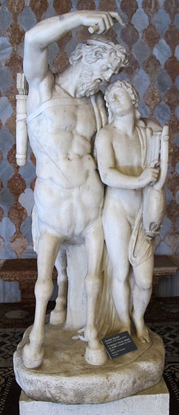 The centaur Chiron and the Greek hero Achilles.