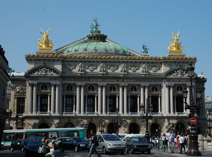 View of the facade from Avenue de l'Opéra