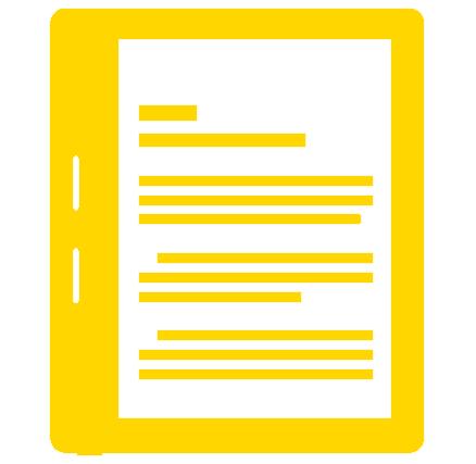 icon of an e-reader