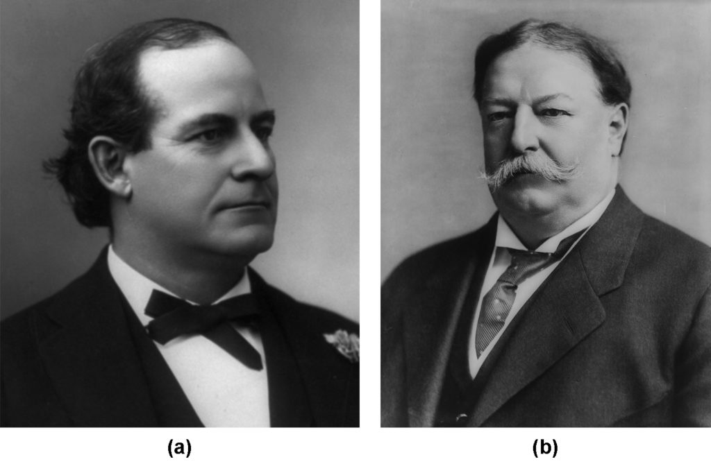 Portraits of Bryan and Taft