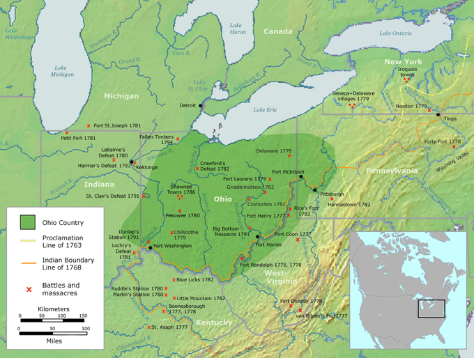 The Campaigns Of The North And The West Boundless US - Map of us after revolutionary war