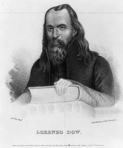 Drawing of Lorenzo Dow