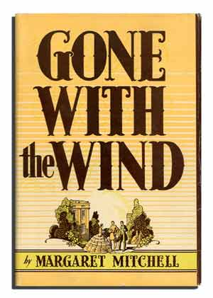 The first edition cover of Gone With the Wind