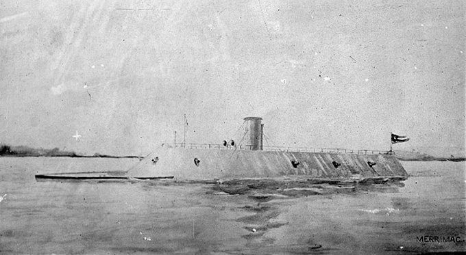 An image of the CSS Virginia