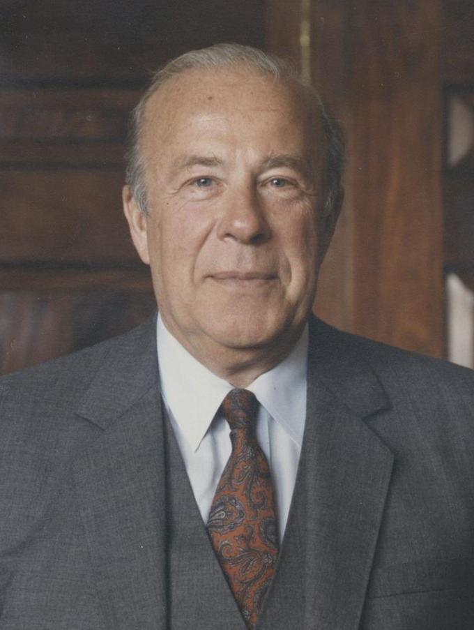 Portrait of George Shultz