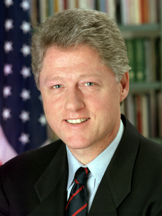 Official White House photo of President Bill Clinton