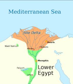 The 14th dynasty controlled most of the Nile Delta, including—from west to east—Arthribis, Bubastis, and Avaris, the capital.