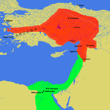 The Hittite Empire covered a large portion of modern-day Turkey, in addition to portions of modern-day Syria and Lebanon. The Egyptian Empire covered a large portion of modern-day Egypt, in addition to portions of modern-day Sudan, Palestine, Israel, Lebanon, Syria, and Jordan.