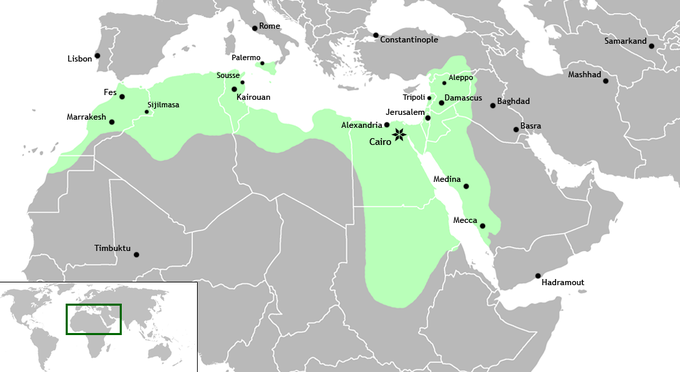 Map Of Spain Under Moorish Rule.The Umayyad And Abbasid Empires Boundless World History