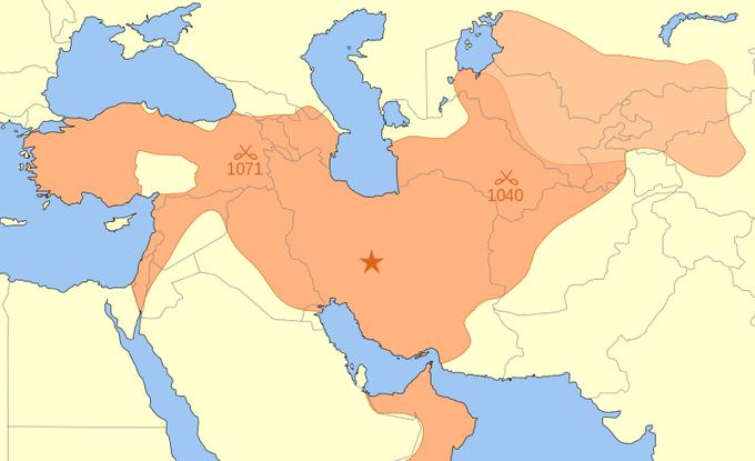 The Seljuk Empire covered portions of modern-day Afghanistan, Armenia, Azerbaijan, China, Egypt, Georgia, Iran, Iraq, Israel, Jordan, Kazakhstan, Kuwait, Kyrgyzstan, Lebanon, Nagorno-Karabakh, Oman, Palestine, Russia, Saudi Arabia, Syria, Tajikistan, Turkey, Turkmenistan, UAE, Uzbekistan, and Yemen.