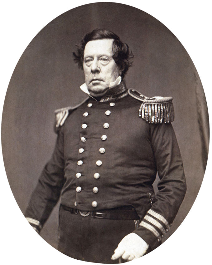 Photo portrait of Commodore Matthew Calbraith Perry