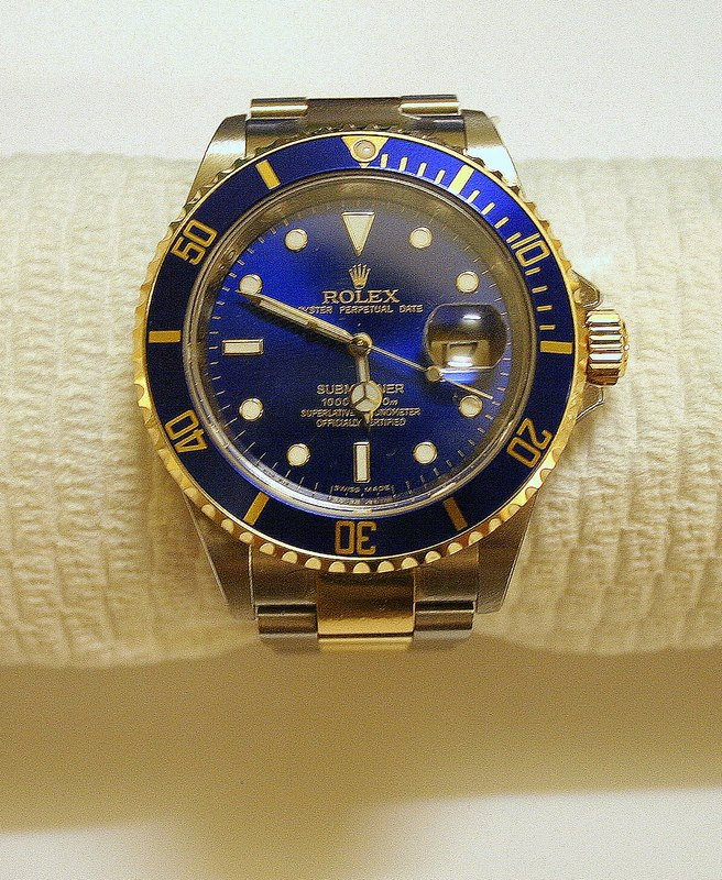 A blue rolex watch