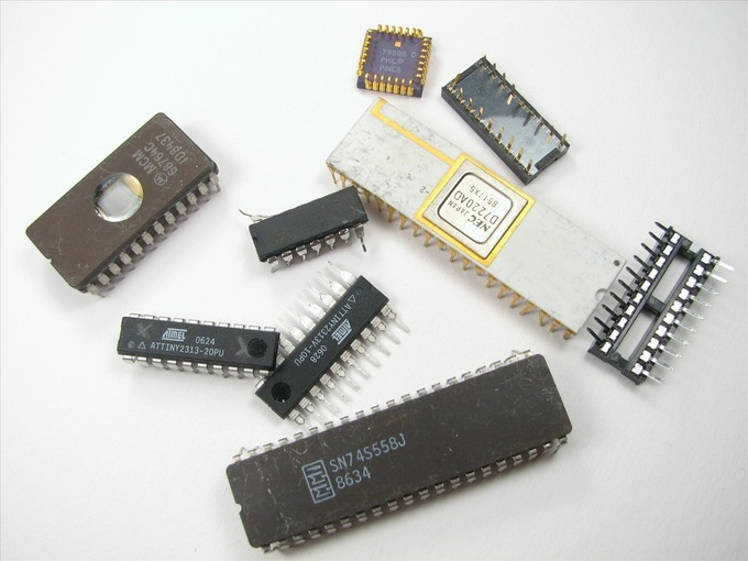 an image of microchips of various sizes and colors