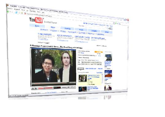 an image of a youtube screen on the computer.