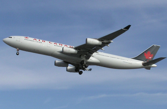 An Air Canada airplane.