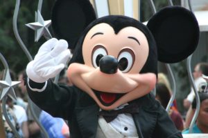 Mickey Mouse waving