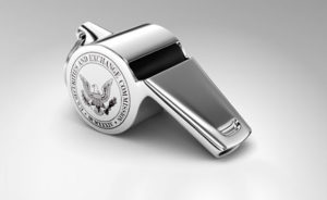 "A whistle with the words ""U.S. Securities and Exchange Commission"" on the side"
