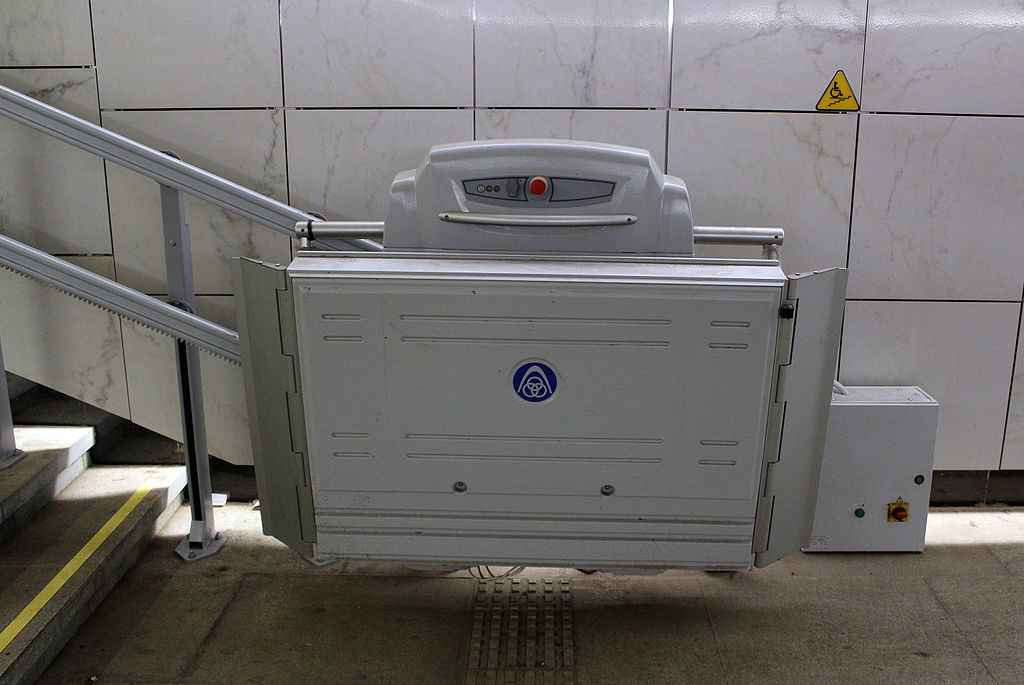 A ThyssenKrupp wheelchair lift