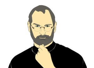 Illustration of Steve Jobs