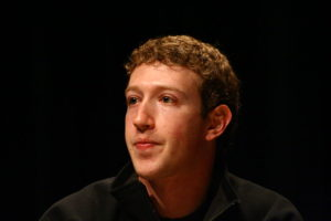 Picture of Mark Zuckerberg with black background
