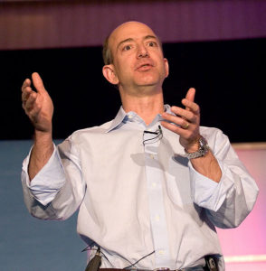 Jeff Bezos giving a speech