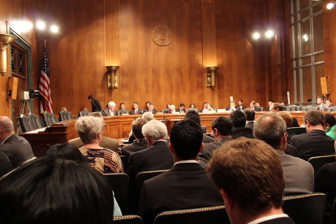 A picture of the Senate Antitrust Subcommittee.