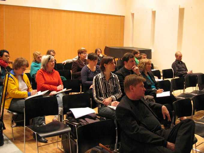 An audience at the Dot Org Boom Seminar on April 12, 2005, at Finland's Embassy in Stockholm.