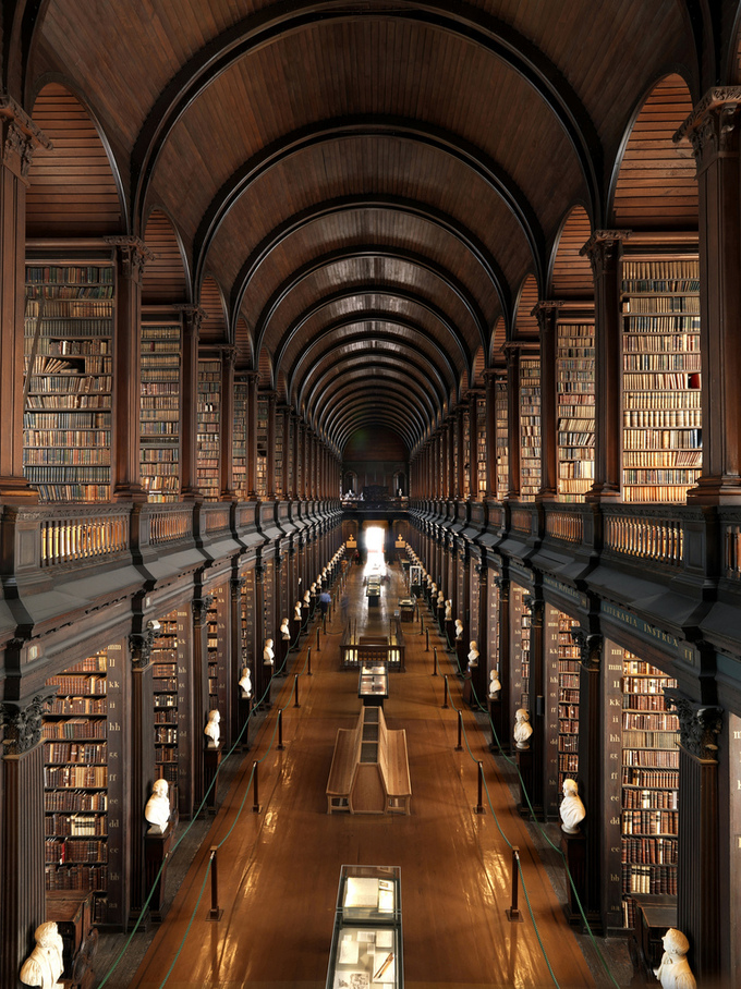 A picture of the inside of the Library at Trinity College.