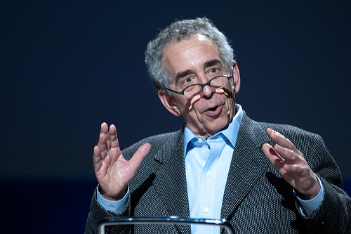 Barry Schwartz during a TED talk.