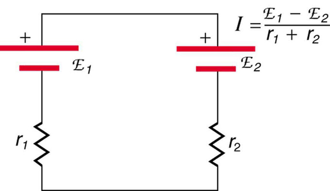 resistors in series and parallel boundless physics rh courses lumenlearning com circuit with two batteries in series series circuit with multiple batteries