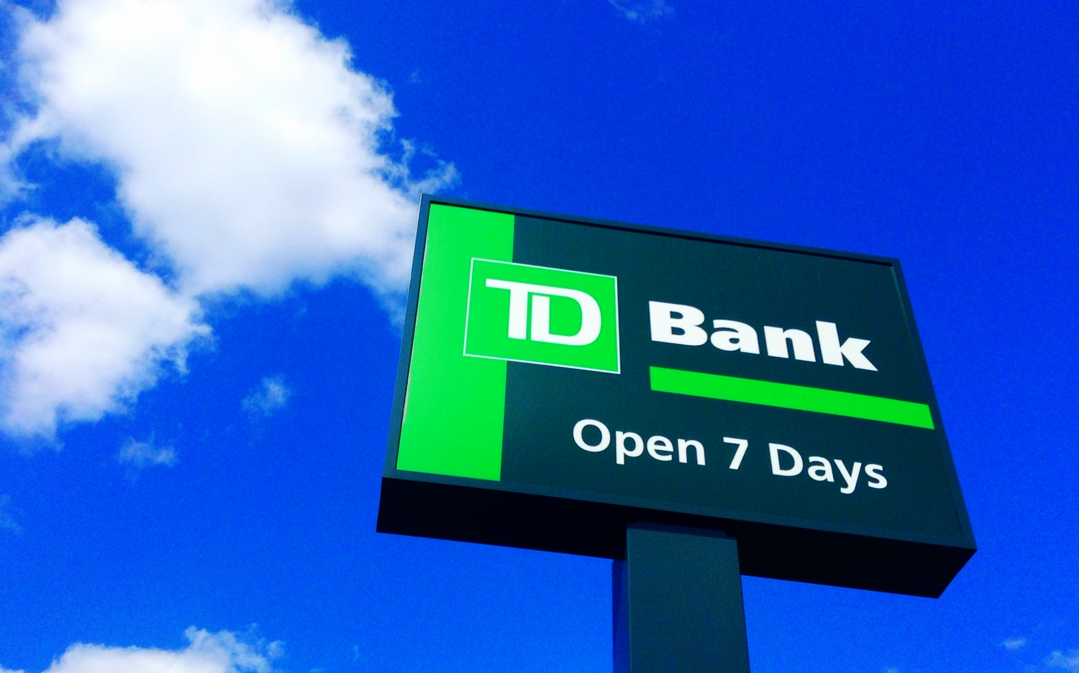 Sign for TD Bank.