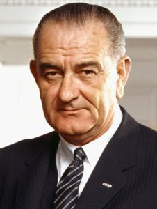 Photograph of Lyndon B. Johnson.