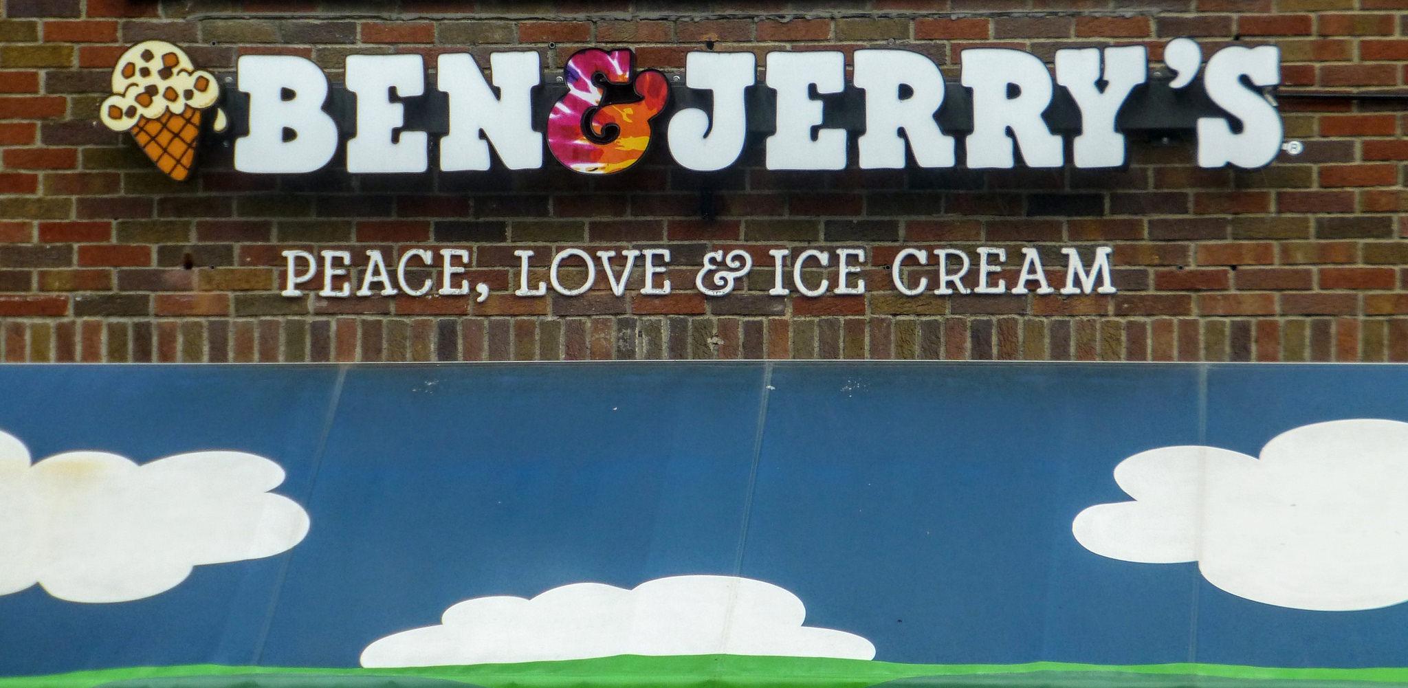 Ben & Jerry's ice cream storefront.
