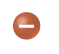 a small red sphere with a negative sign in it